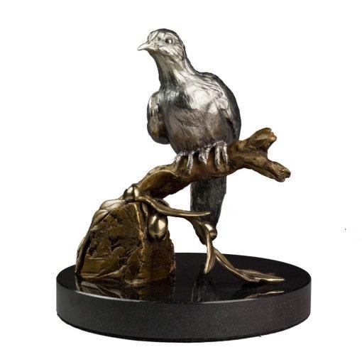 Bronze Dove Sculpture-1